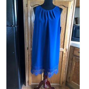 CCO Sale NWT AB Studio Lace Hem Trapeze Dress